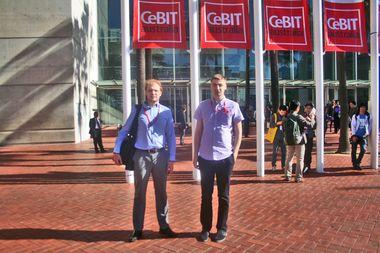 Alexey Burlakov and Vlad Labetsky at Darling Harbour, Sydney