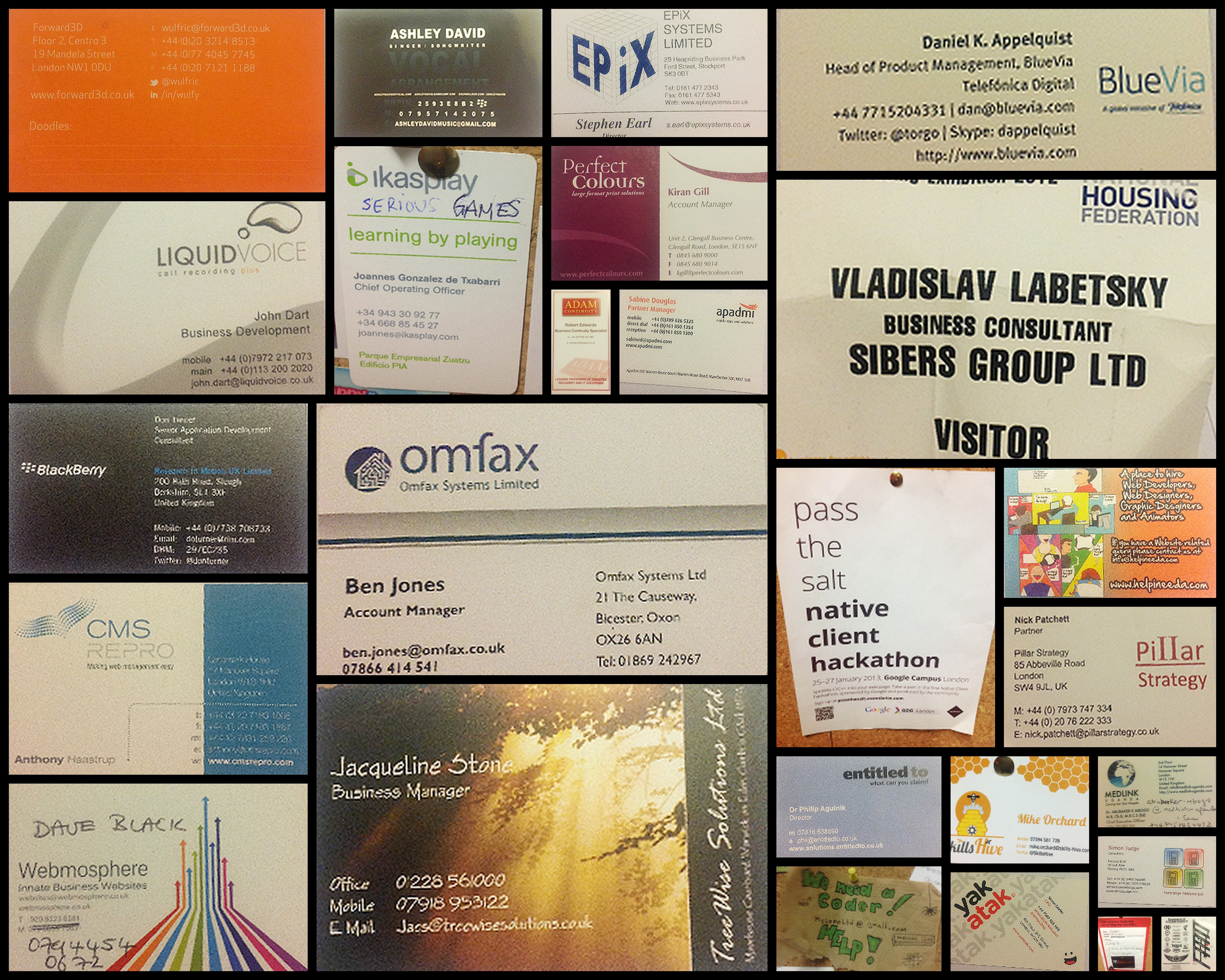 Business card collection
