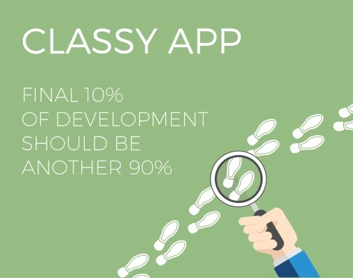 "Functionality vs. classy: the ""90/90 percent"" app rule"
